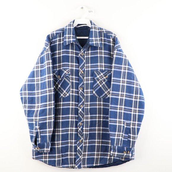 Vintage Quilt Lined Double Pocket Flannel Jacket